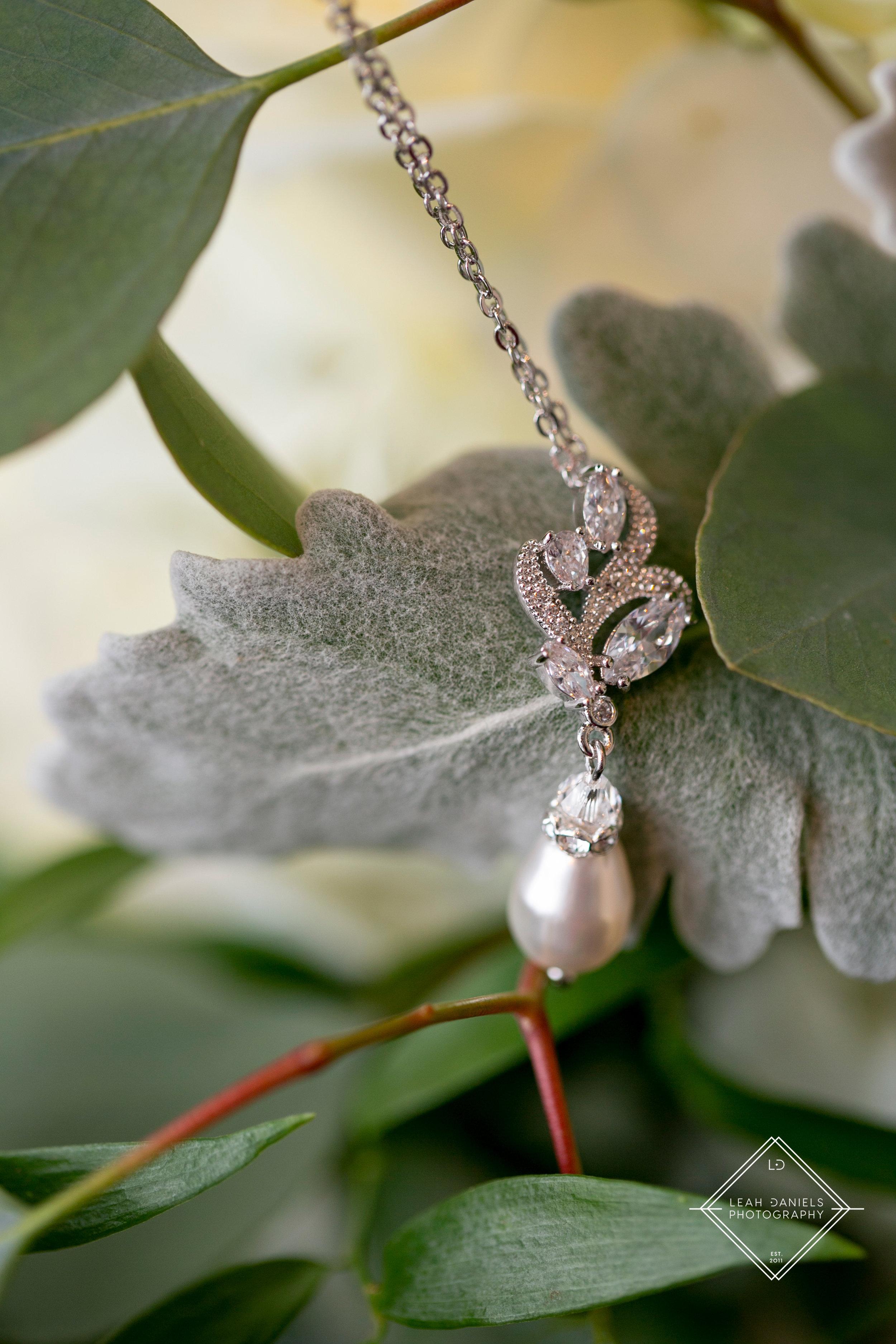 Radisson Scranton Wedding - Diamond necklace