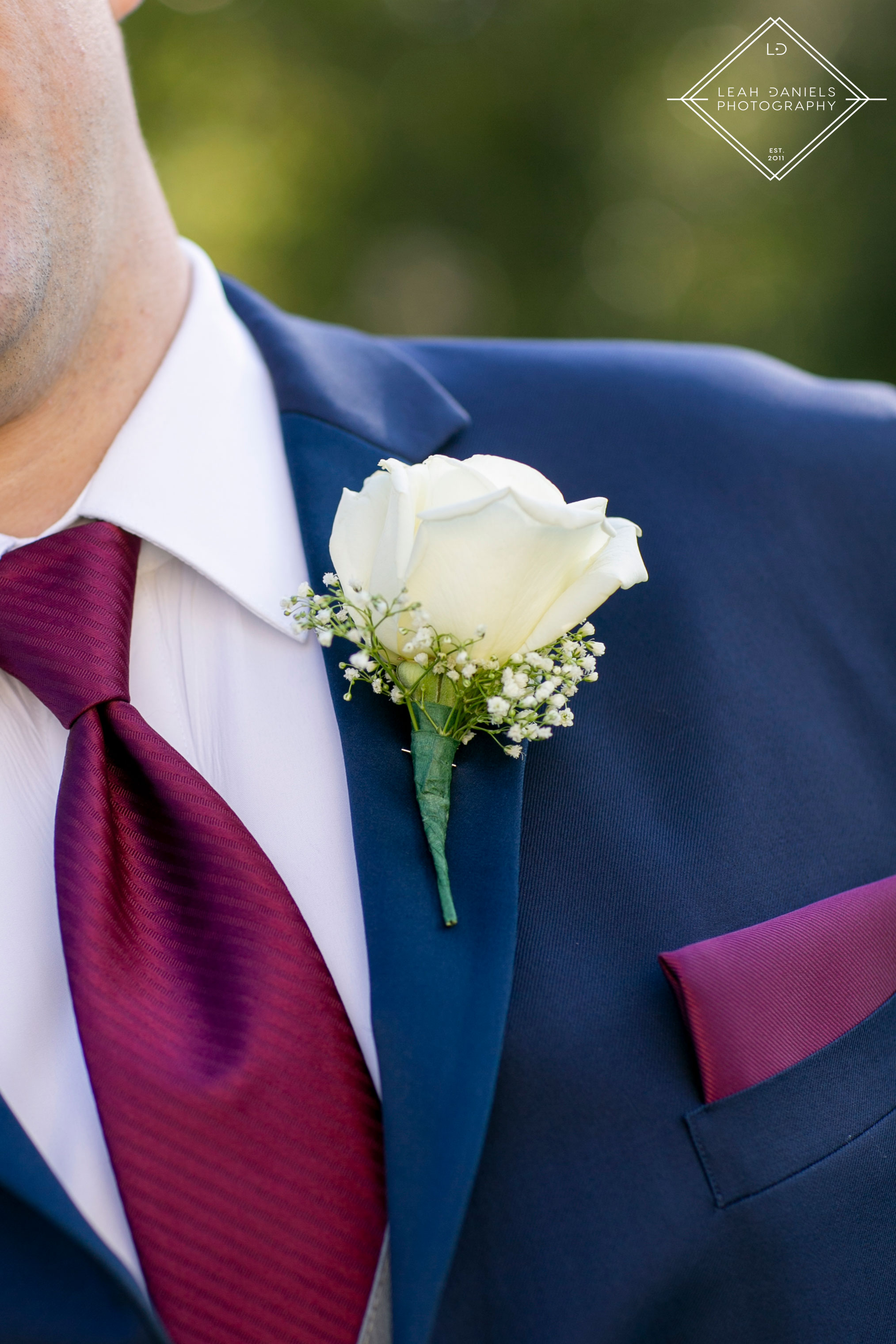 Scranton Wedding Photography - Nay Aug Park - Boutonnière