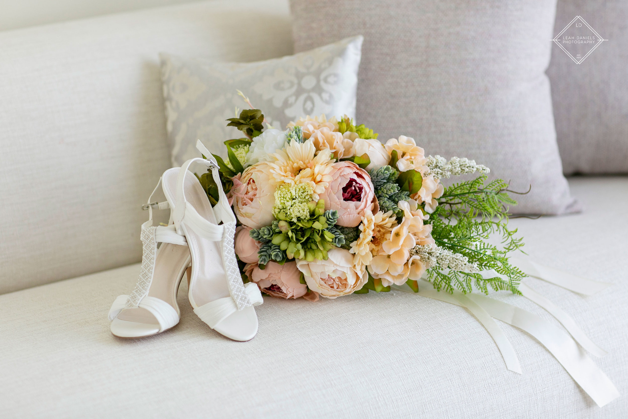 NOW Larimar Destination Wedding Photos; Florals and Shoes