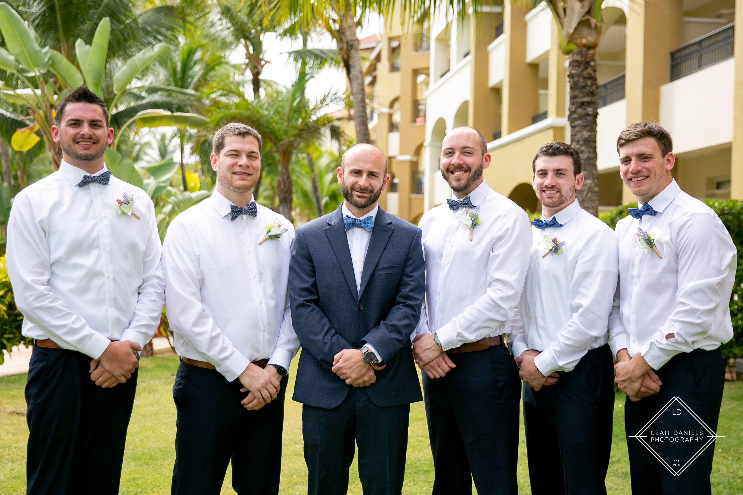 NOW Larimar Destination Wedding Photos; The Groomsmen