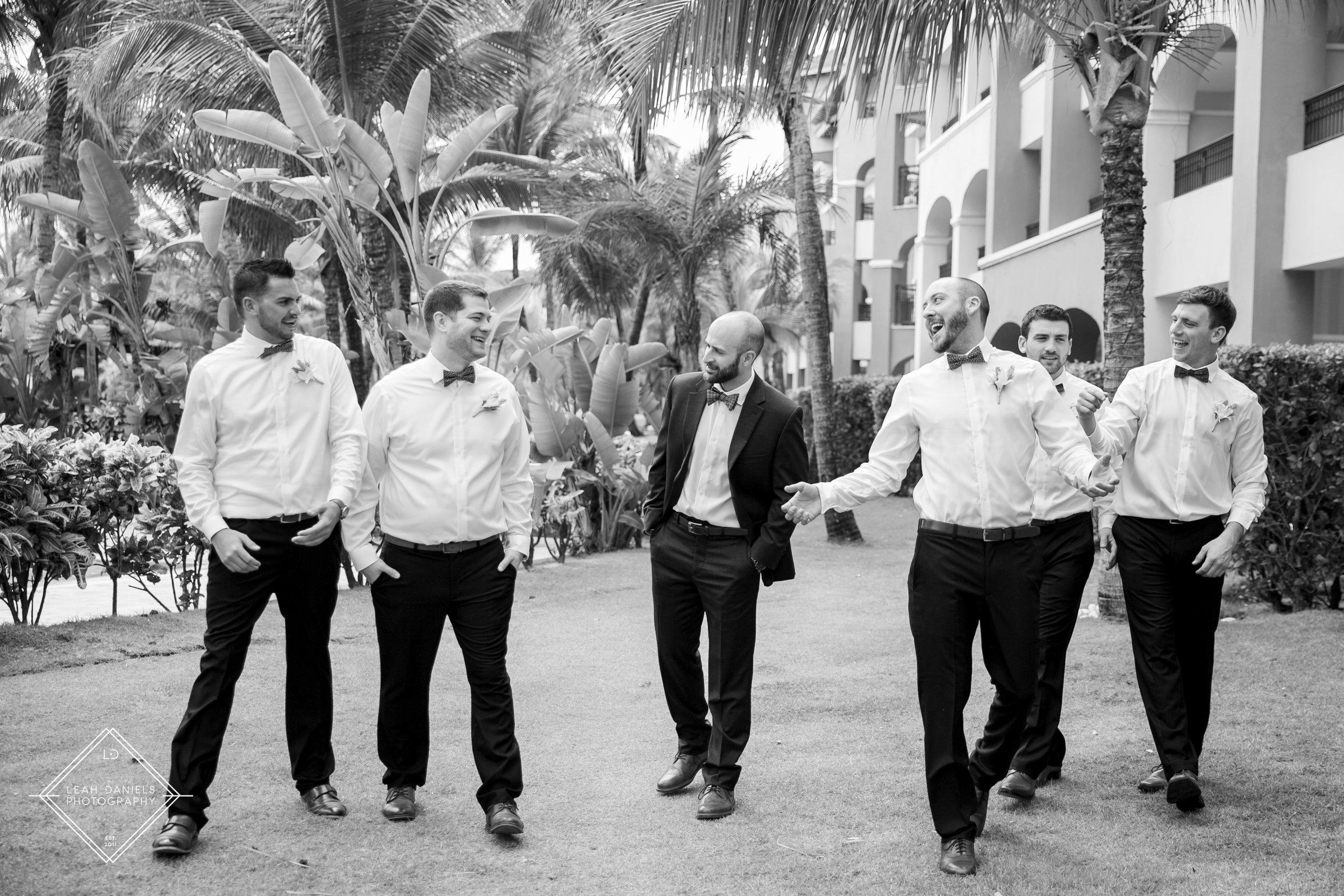 NOW Larimar Destination Wedding: the groomsmen