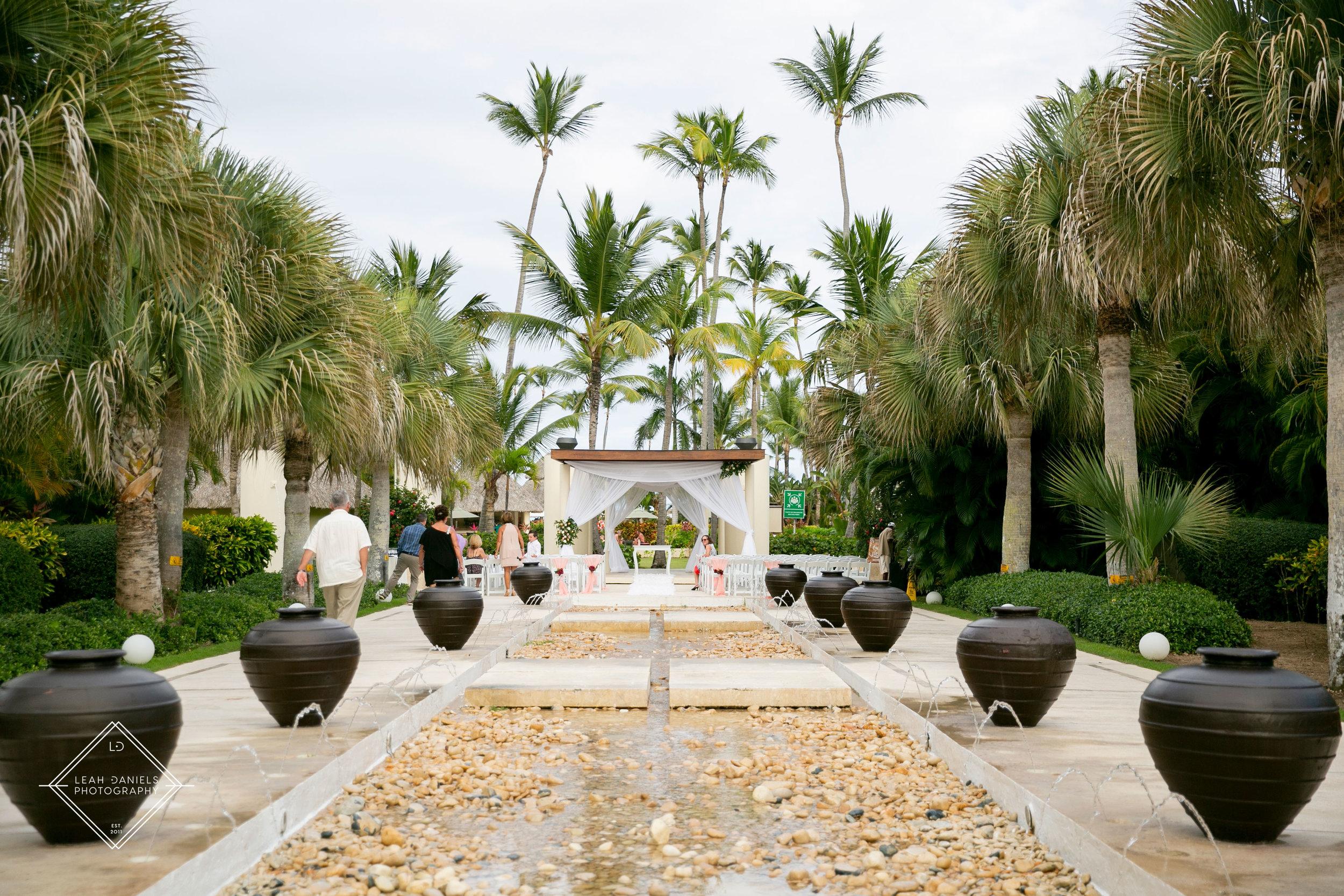 NOW Larimar Destination Wedding; The Fountain Ceremony Site