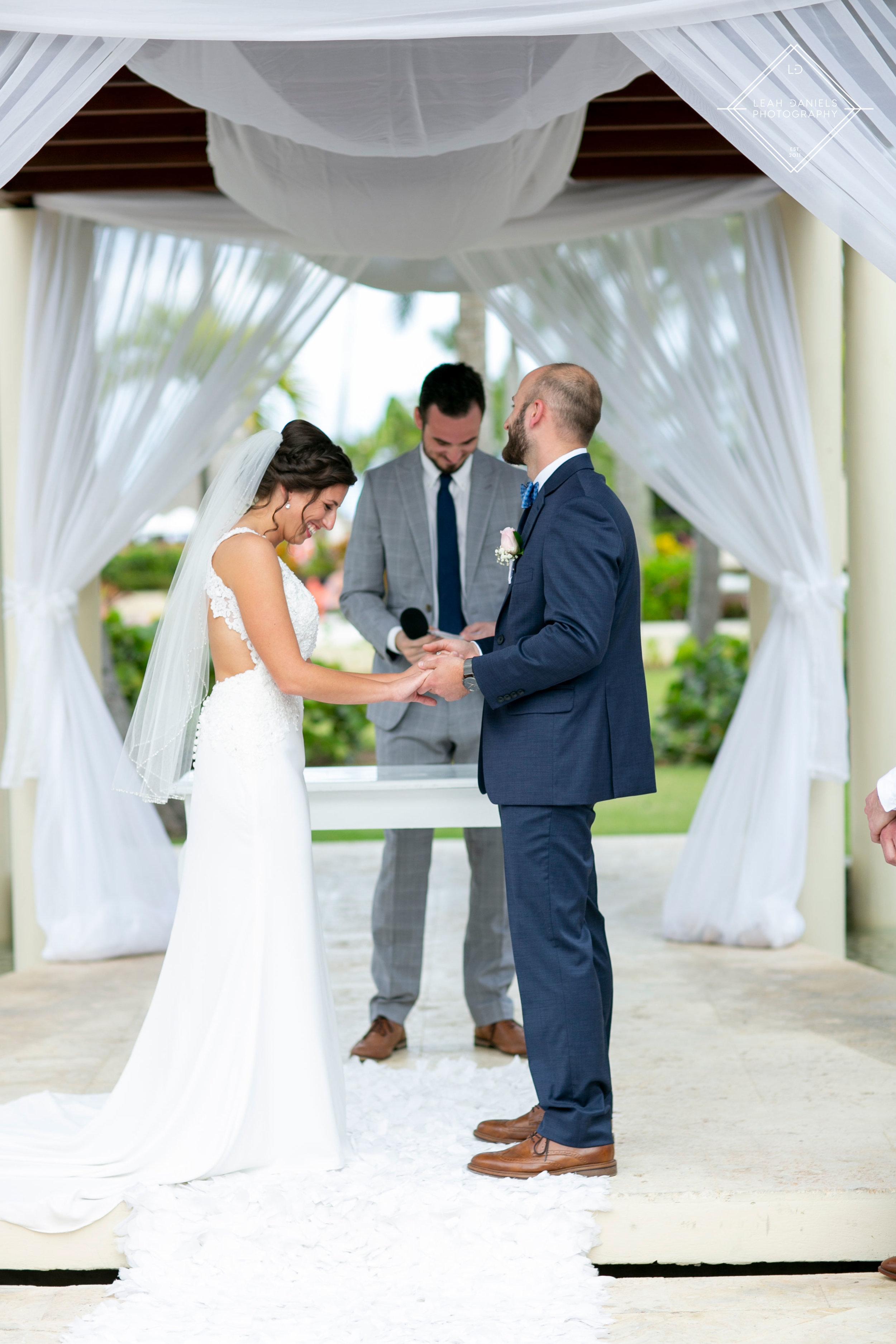 NOW Larimar Destination Wedding; The ceremony