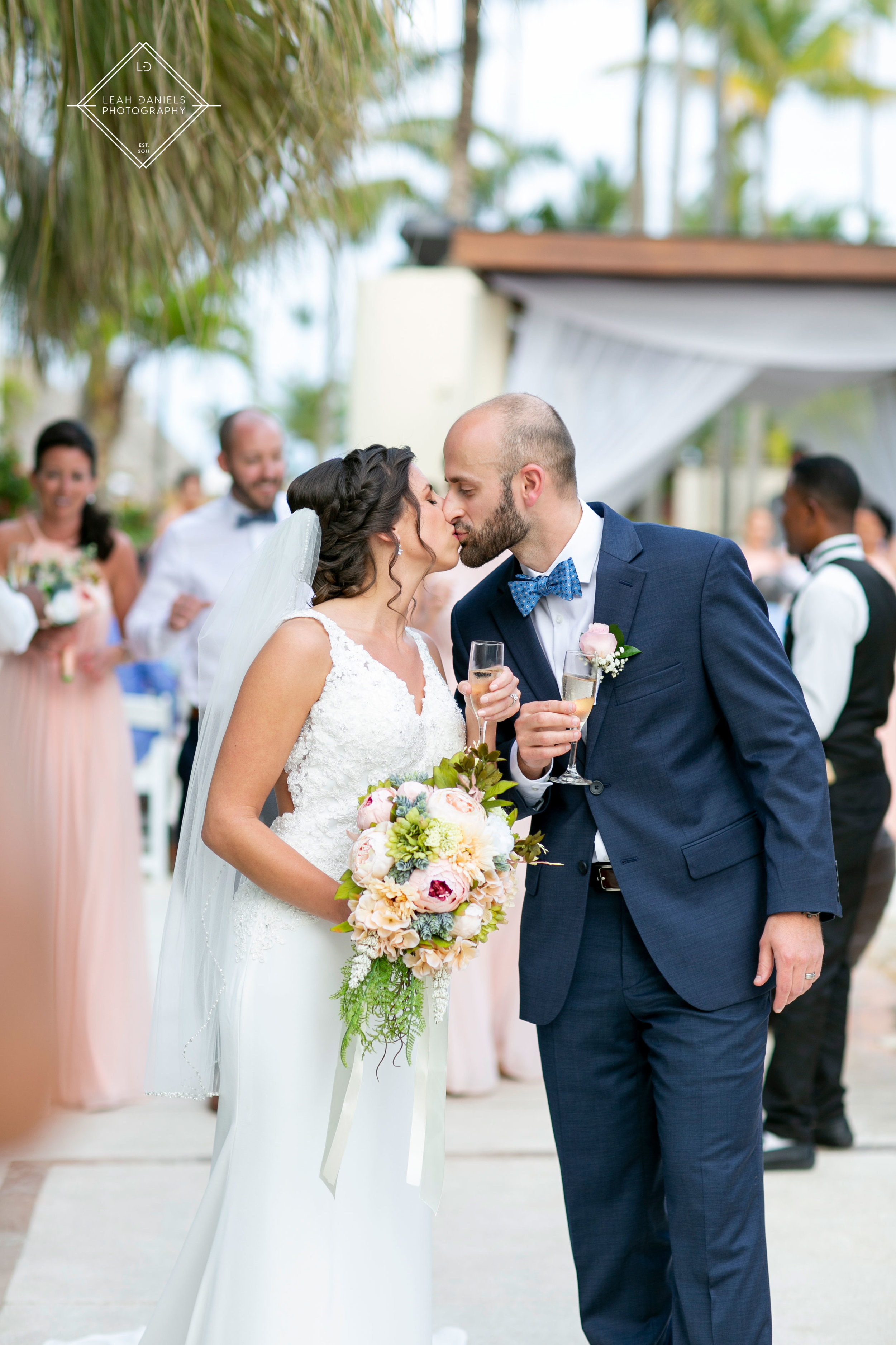 NOW Larimar Destination Wedding; The Bride and Groom