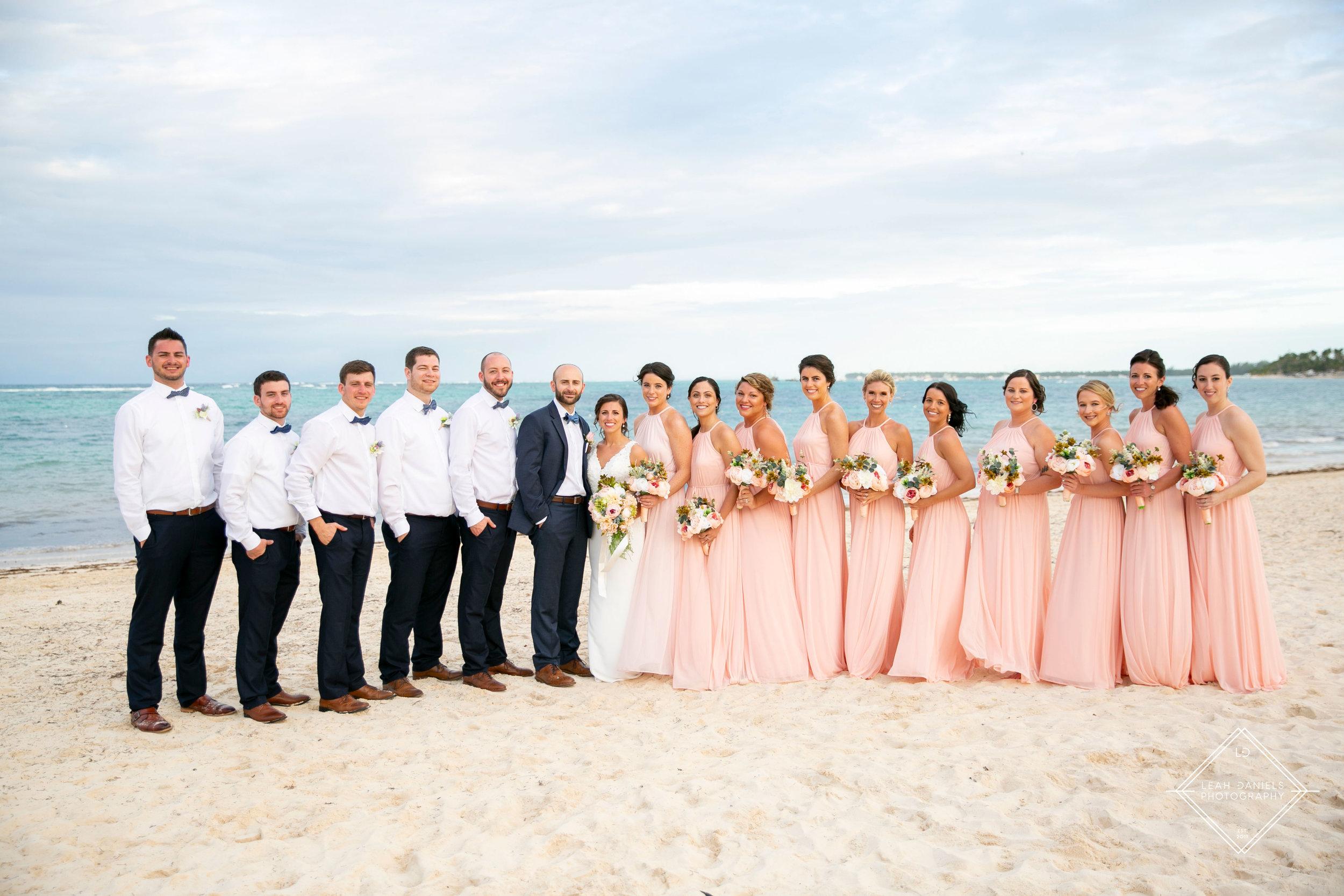 NOW Larimar Destination Wedding; The Bridal party