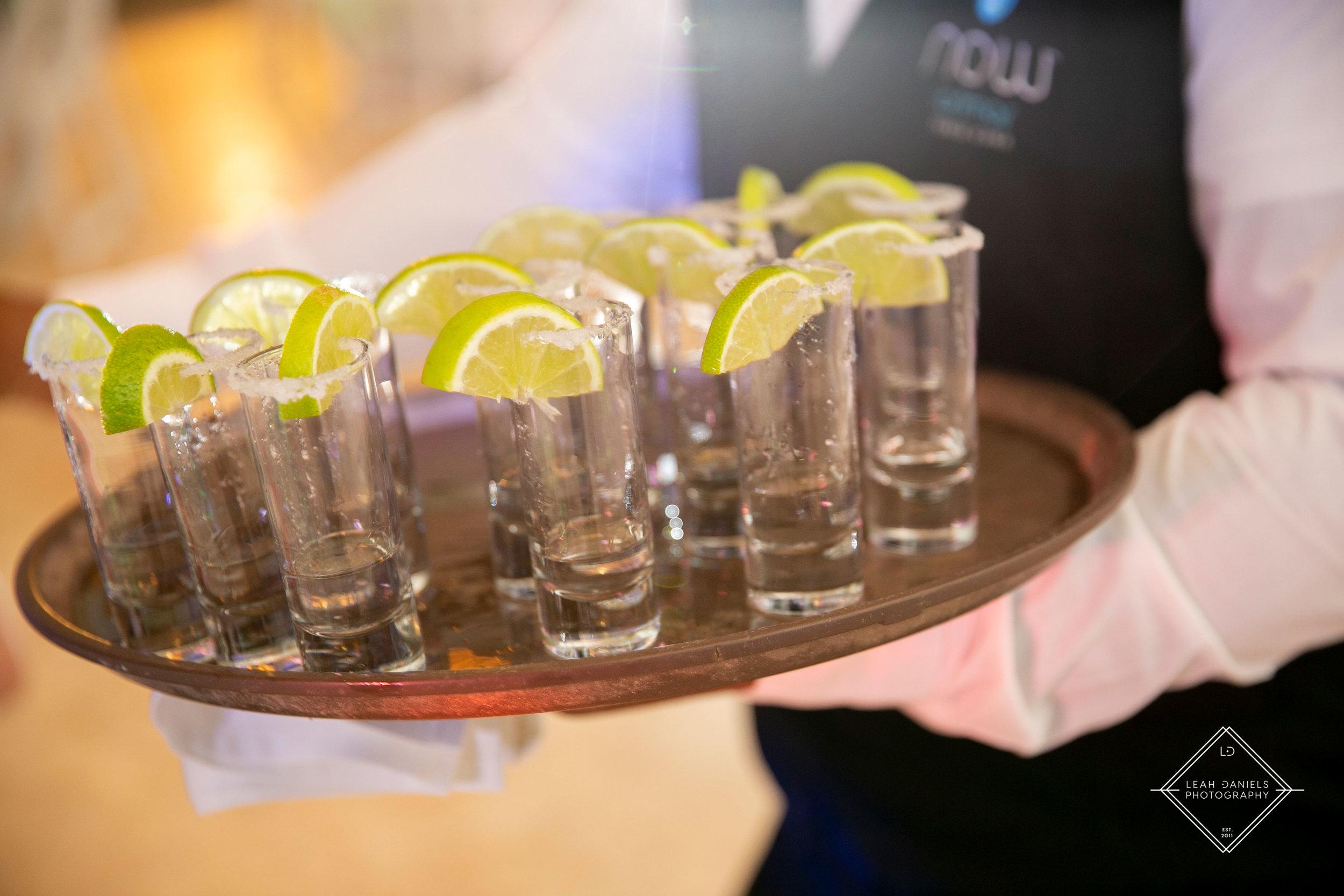 NOW Larimar Destination Wedding; Tequila Shots