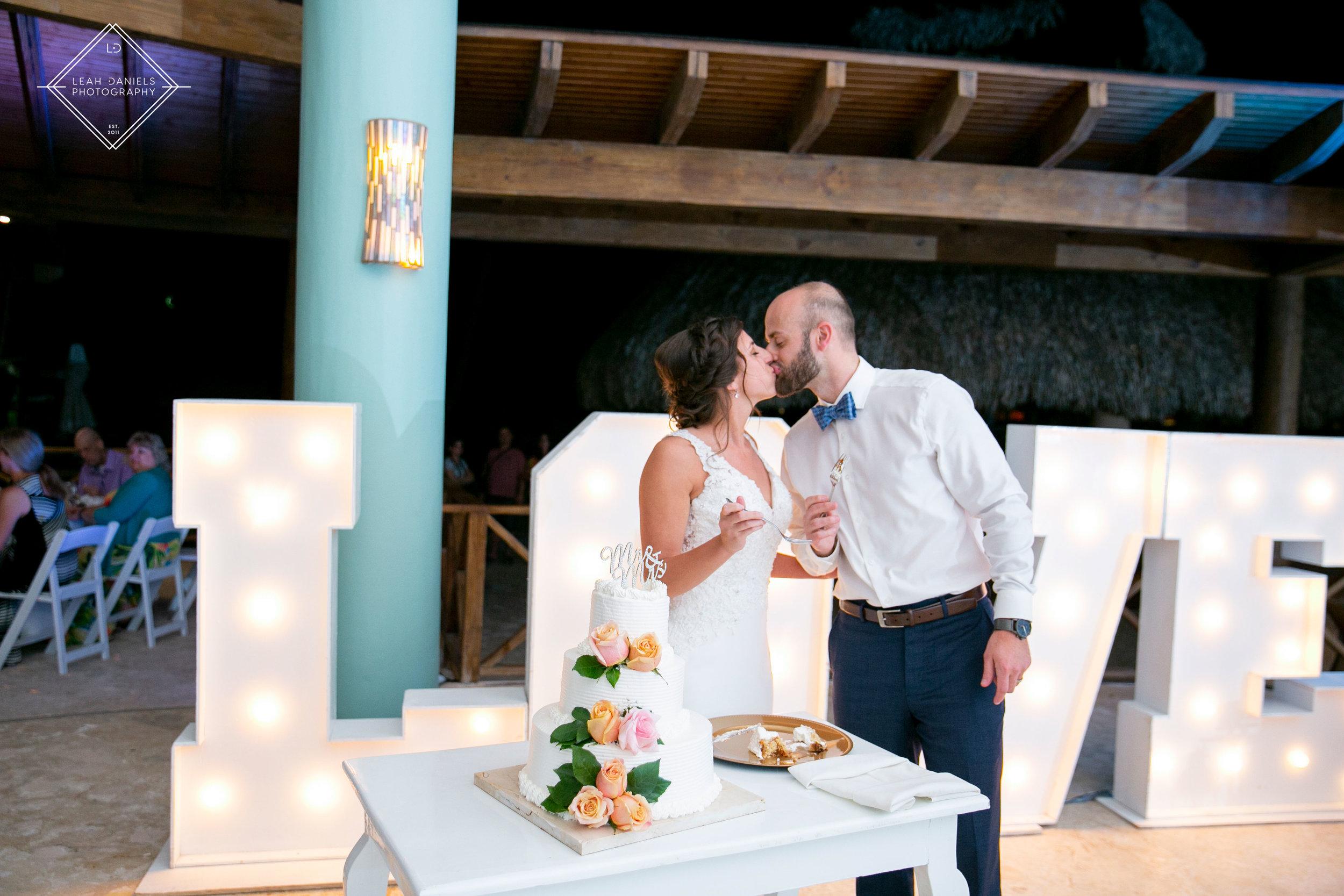 NOW Larimar Destination Wedding; The Cake Cutting