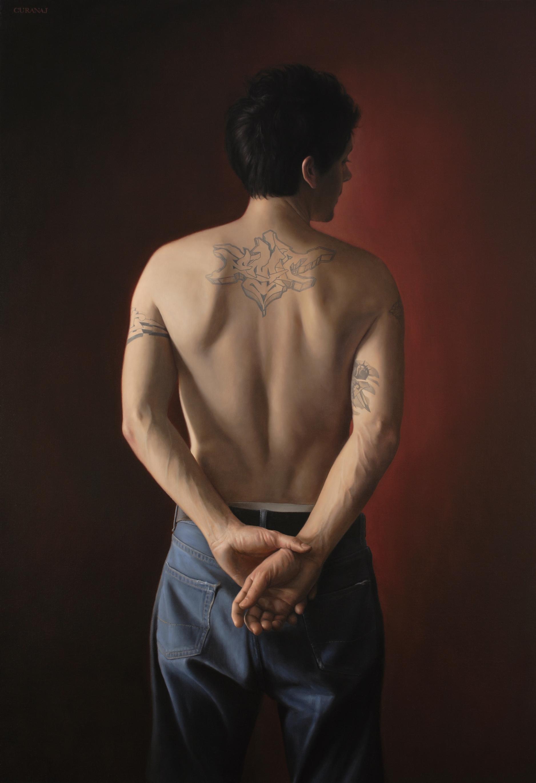"""""""emit"""", oil on canvas, 44x30"""""""