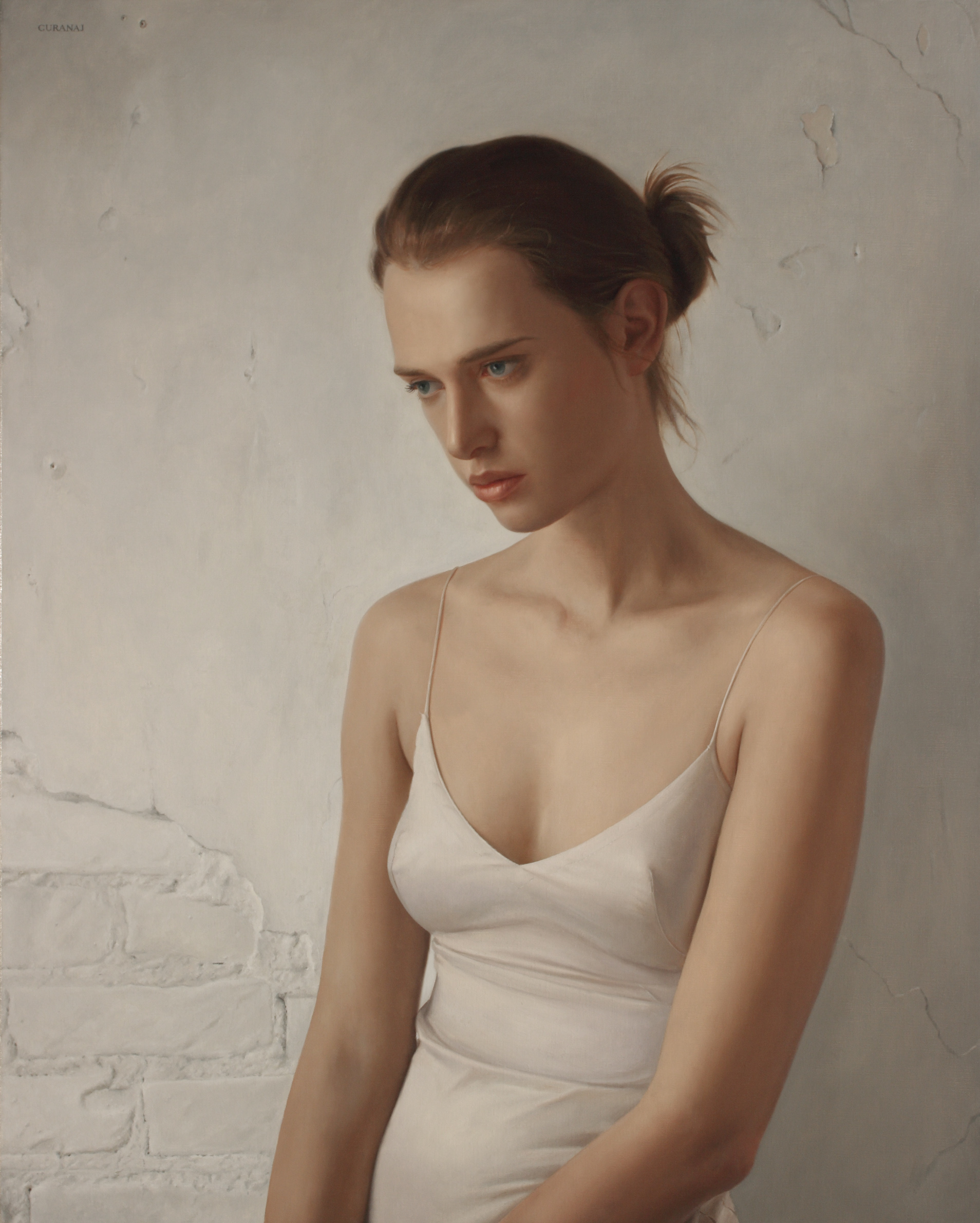 """""""Girl in White"""", oil on canvas, 30x24"""""""