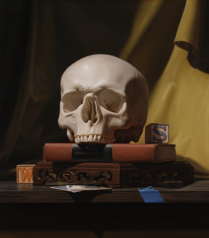 """Yorick the Jester"", oil on canvas, 16x24"""