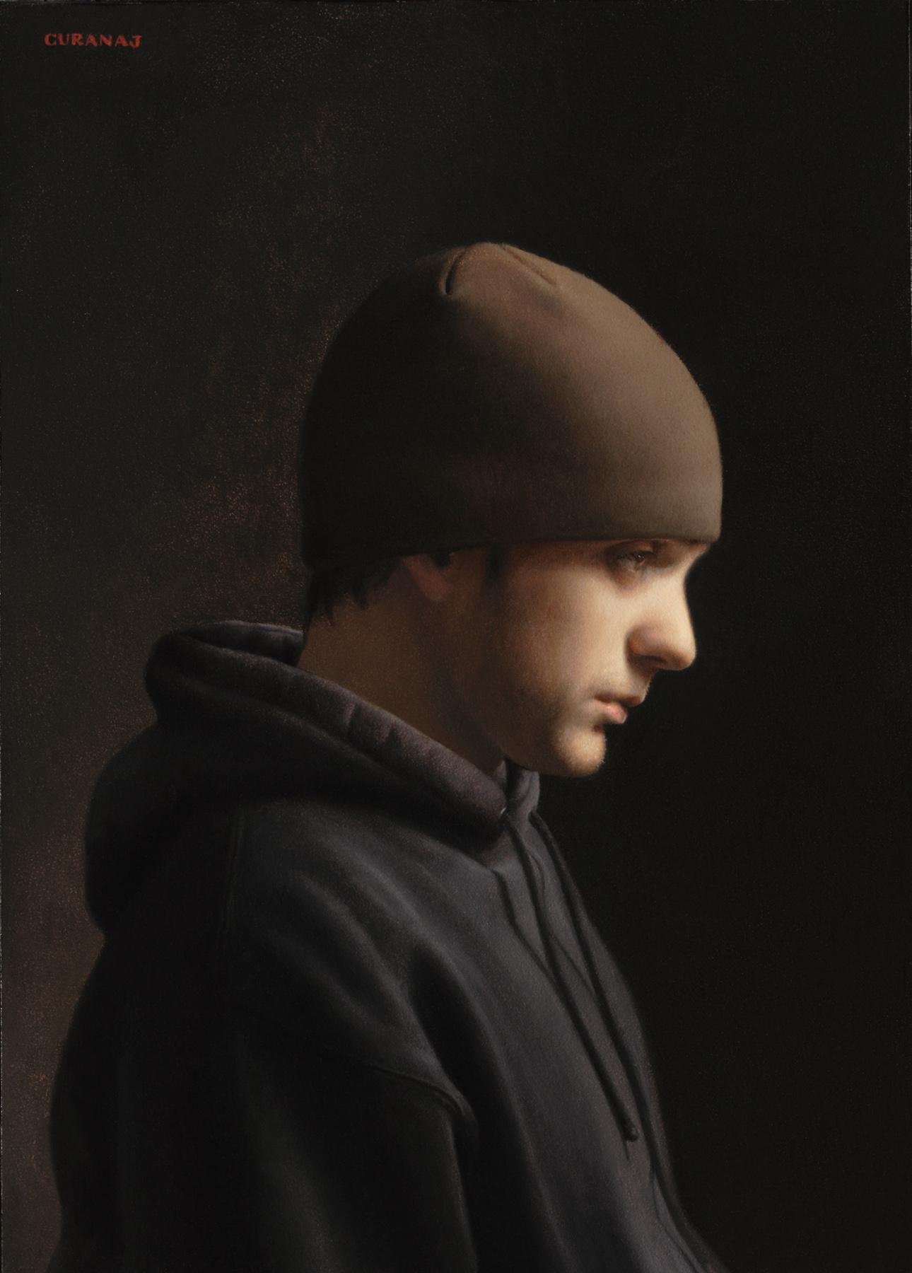 """""""Sub in Profile"""", oil on canvas, 8x6"""""""