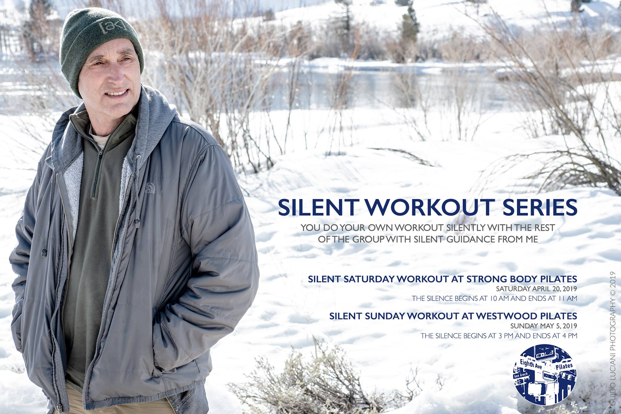 Ken's Silent Sunday Workout at Westwood Pilates   Sunday May 5th, 2019    3pm-4:30pm