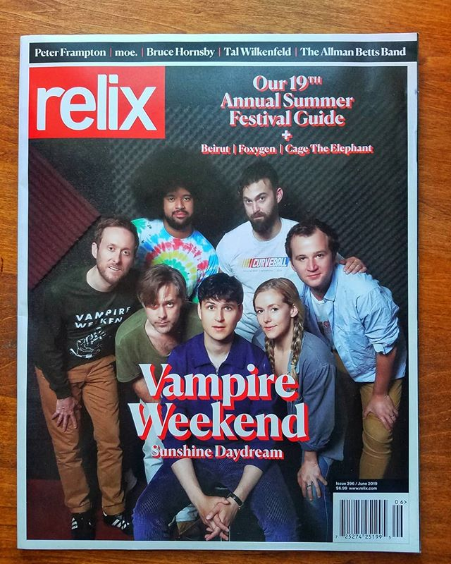 We are so so happy and proud to announce that we have been featured in the June issue of Relix magazine! This is their summer music festival guide and we couldn't be happier to be featured on their summer playlist, alongside @vampireweekend and @trevorhallmusic 🔥🔥🔥grab your copy today!! ••• #relix #relixmagazine #vampireweekend #music #summerplaylist #CD #thebrightonbeat #afrobeat #funk #livemusic #musicfestivals #2k19 #featured #magazine #trevorhall #honored #cagetheelephant #liverecord #claytonoperahouse #NYC #musician