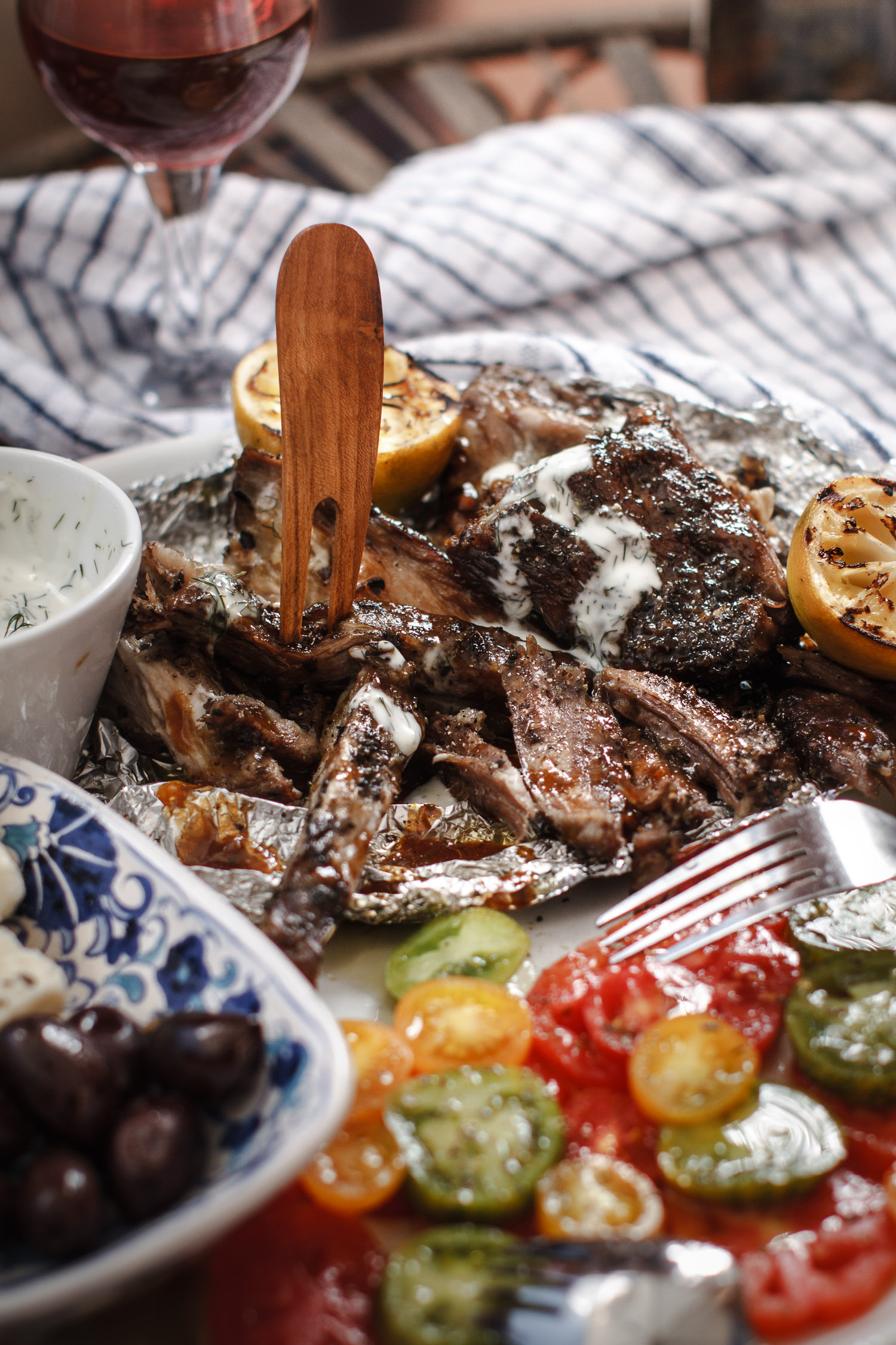 The Best Greek Slow Roasted BBQ Lamb Shoulder, Recipe, Styling, Photo by  Cle-ann