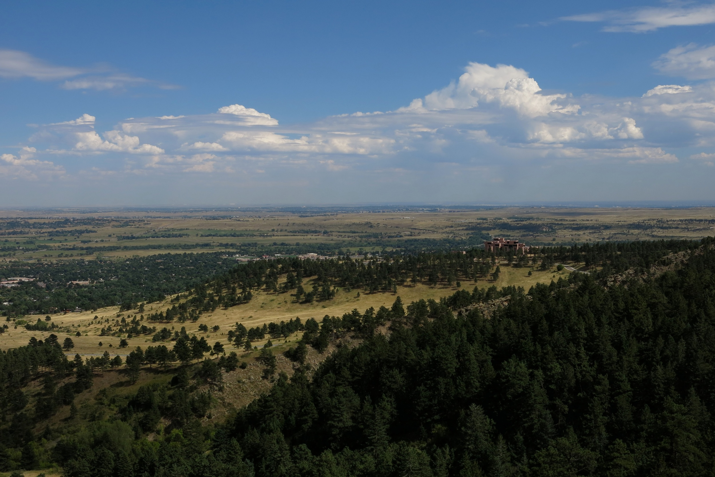 Looking east from Woods Quarry, Boulder, Colorado.