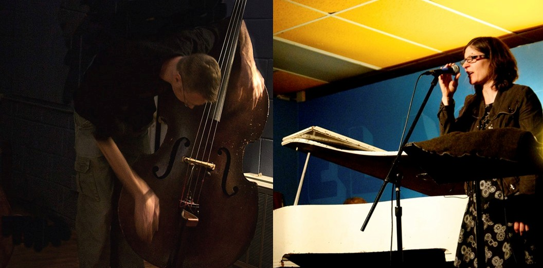 Friday night live at Transistor: improvised voice and double bass from  Albert Wildeman and  Carol Genetti , and electrically induced objects from  Aaron Zarzutzki .  Read more