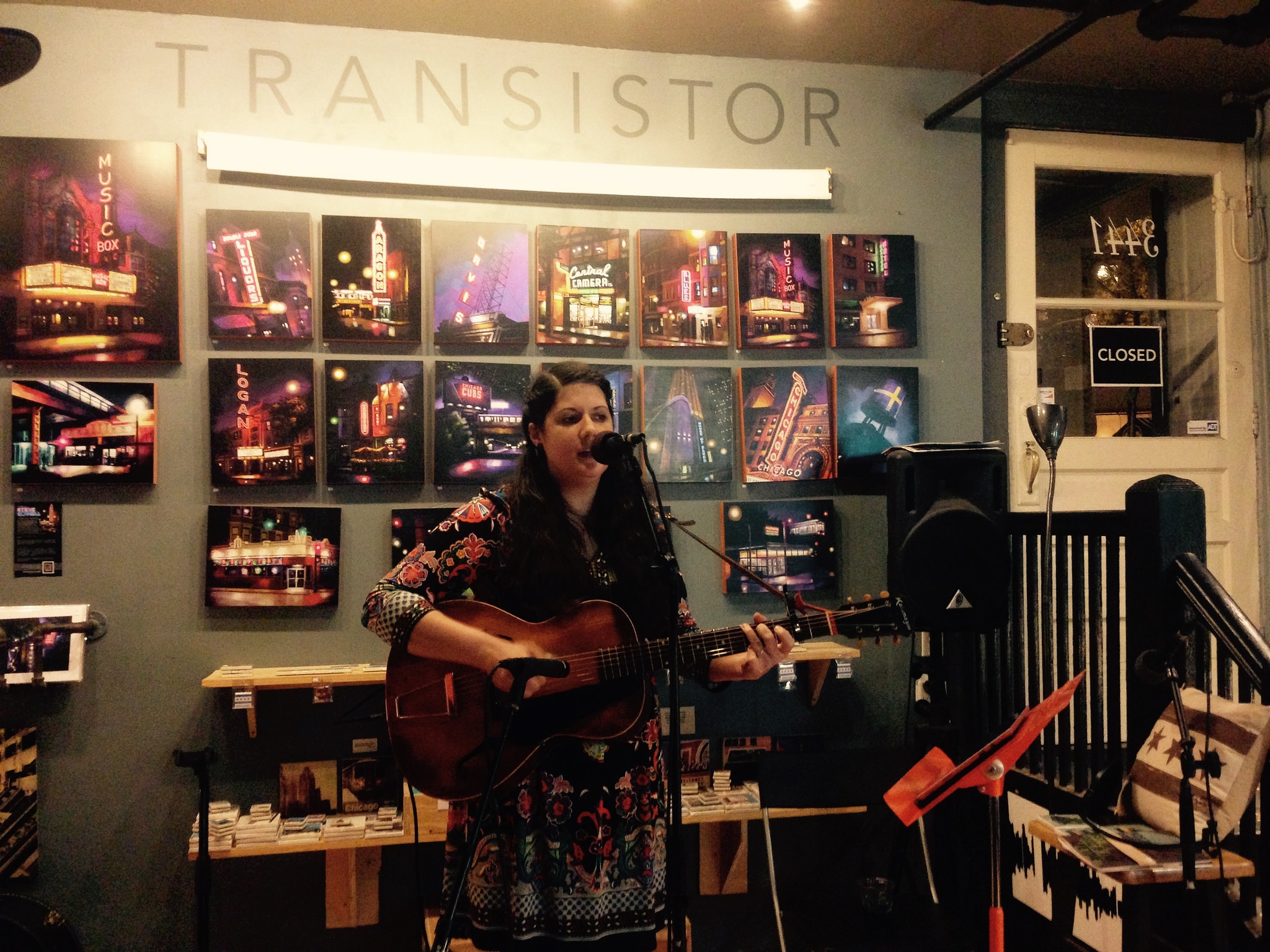 Friday night live at Transistor: acoustic singer-songwriters  Robin Bienemann ,  Rachel Drew  and  Rebecca Jasso .   Read more
