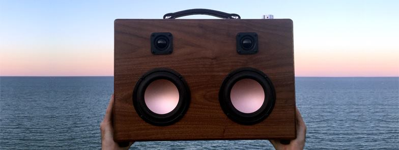 Join us for an evening of warm analog sounds as HiFi Case debuts their newest product, the Modern Boombox, a portable walnut Bluetooth boombox.    Event Page