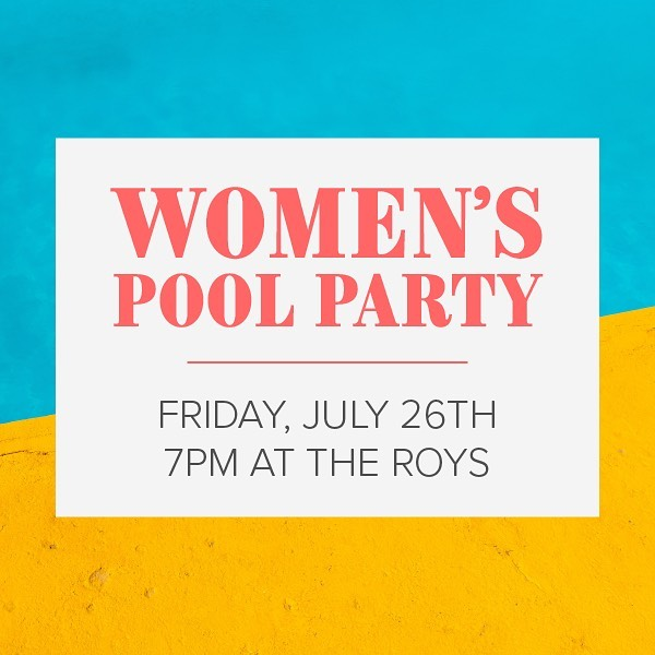 THIS Friday! Tag who you want to push in the pool 😉😏
