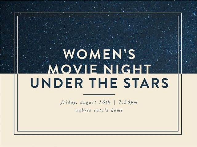 Join us THIS Friday to watch You've Got Mail under the stars (#classic amirite?) BYO blankets and chairs 💫 DM for the address!
