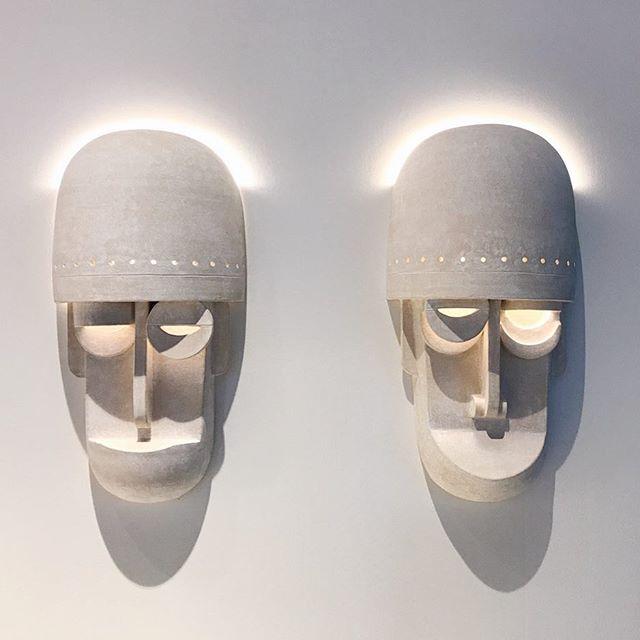 Mask sconces on view at @designmiami with @thefutureperfect until Sunday! #ericroinestad #thefutureperfect #designmiami
