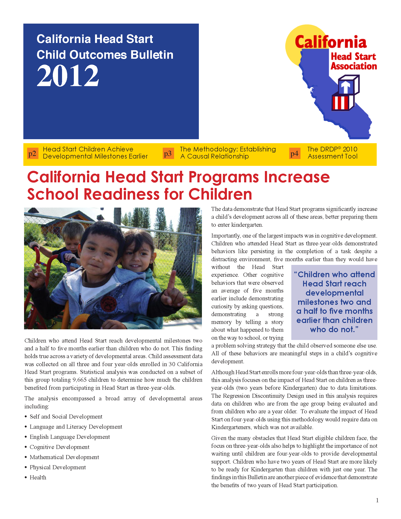 San Joaquin Head Start Program Impact Analysis