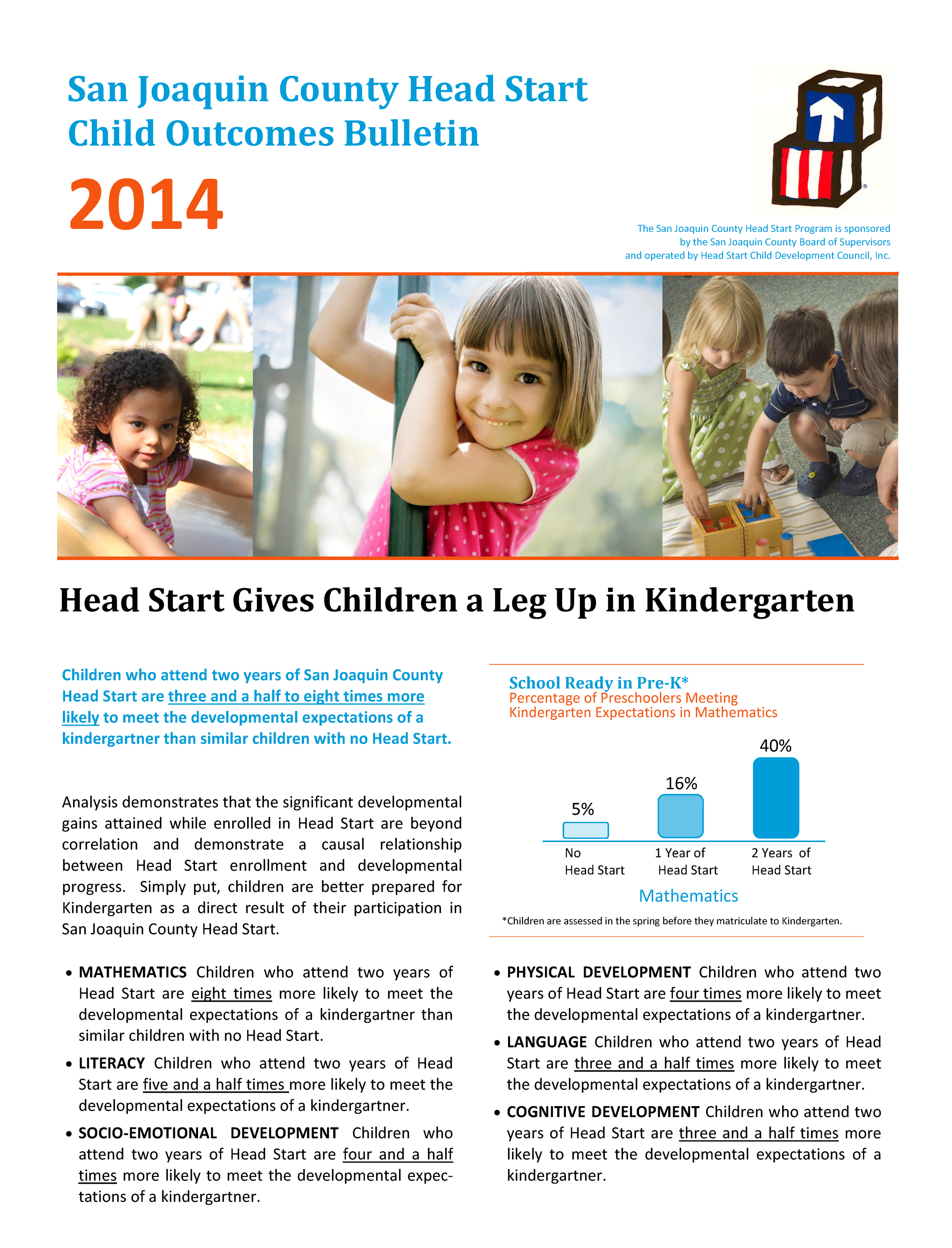 San Joaquin Head Start Program Impact Analysis 2014