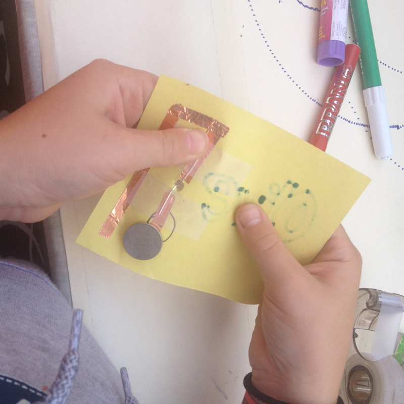 Making paper circuits with Storefront Science
