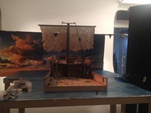 The ship sails the high seas. Avast! I spy a poop deck!