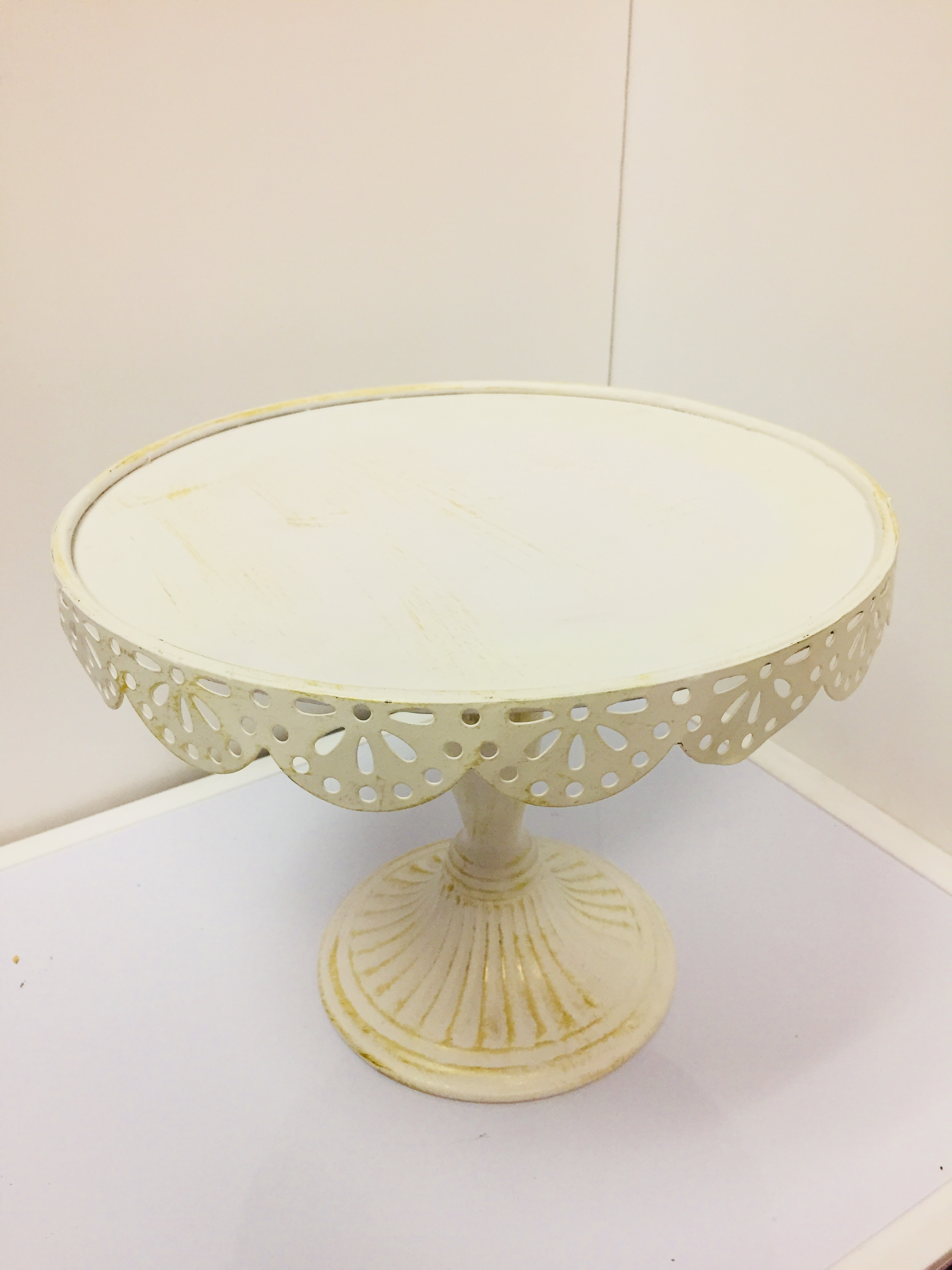 White Antique Stand