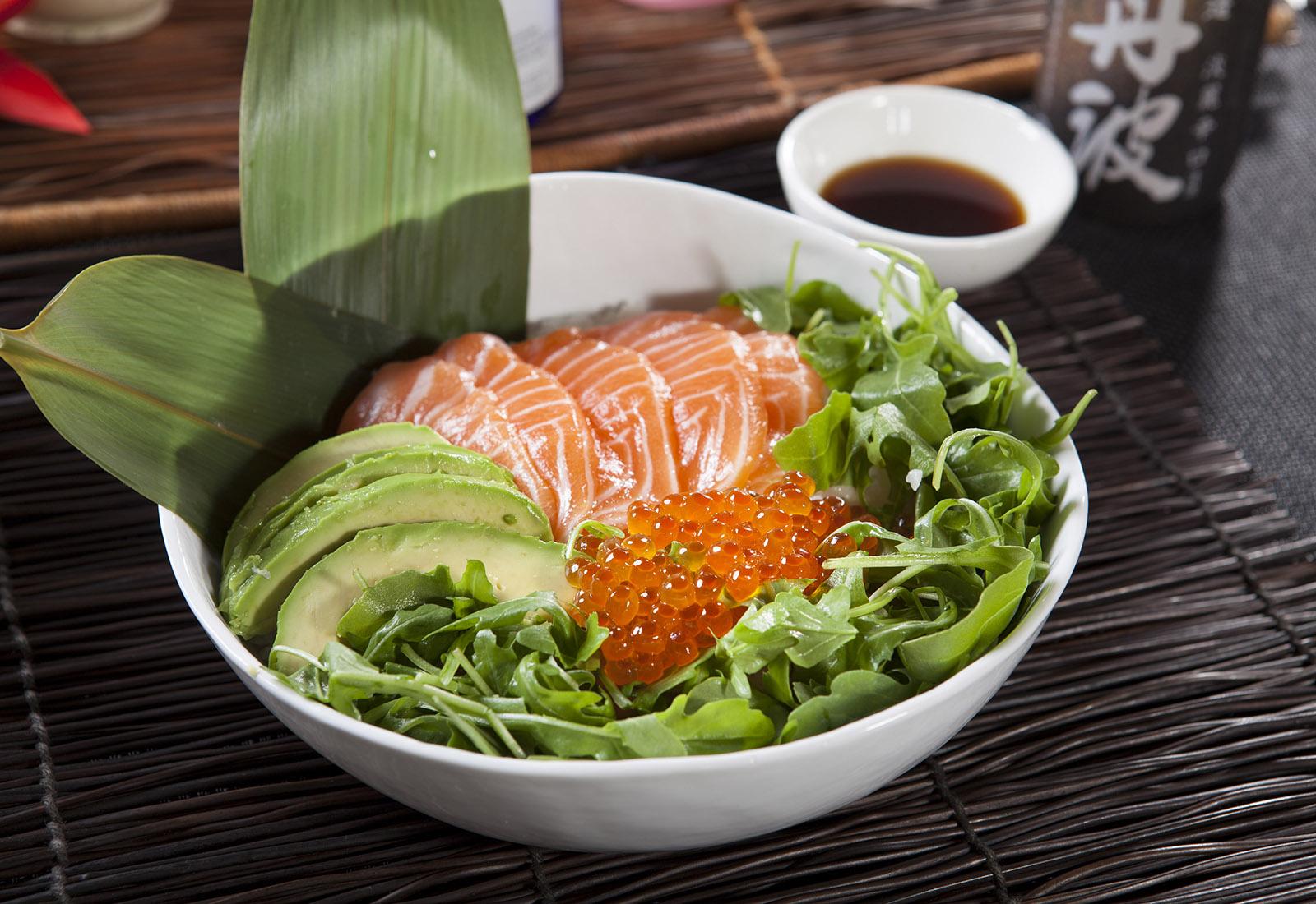 Salmon & Ikura Don