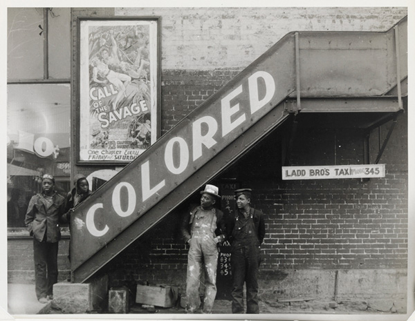 [Peter Sekaer, Colored Movie Entrance, Anniston, Alabama, 1936. Courtesy Amherst College]