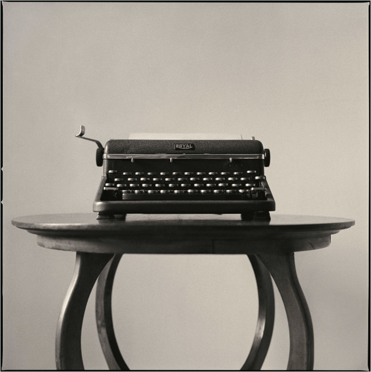 Jim Herrington   Norman Mailer's Typewriter, Brooklyn, New York,   1990   22 x 22 inches     pigment print   signed lower right verso