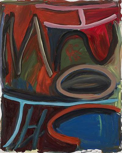 Josh Smith,  Untitled , 2010, Oil on canvas, 60″ x 48″