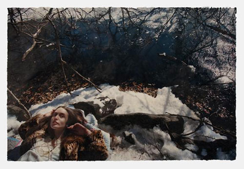 Untitled; Lizzie in the Snow (2), 2010, Oil on paper, 42 x 60 inches