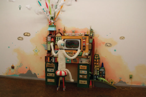 Souther Salazar, Alejandro and the Idea Machine, 2010; Mixed media installation with found objects; size variable