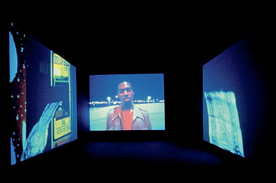 Doug Aitken  Electric Earth, 1999  Eight DVD installation, edition 3/4, Dimensions variable