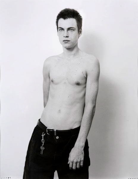 Collier Schorr,  Kid , 2007, black and white photograph, 18 3/4 x 14 5/8″, Edition 1 of 5. Retail: $8,500, Opening Bid: $5,500