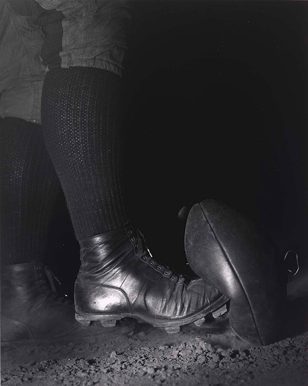 Harold Edgerton   Wes Fesler Kicking a Football  , 1934   20 x 16 inches (50.8 x  40.65cm)   g  elatin silver print   signed in pencil on the reverse