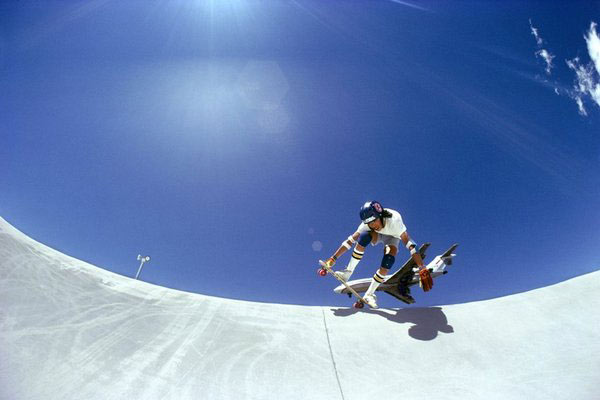 Hugh Holland,  Joe Fong, Skate Park near Airport, Reno, Nevada , 1975, Chromogenic print, editions of 30″ x 40″, 20″ x 30″ and 11 x 14″