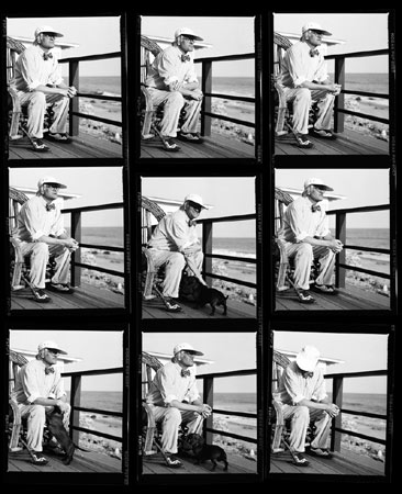 David Hockney Contact Sheet,  Malibu, 1989
