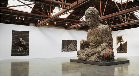 """Zhang Huan: Neither Coming Nor Going"""" was on display recently at PaceWildenstein"""