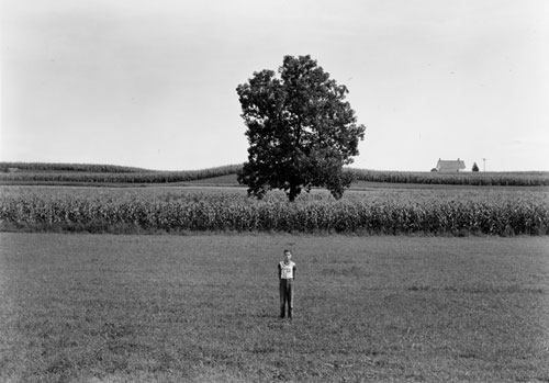 Kenneth Josephson,  Wisconsin , 1965. Vintage gelatin silver print, 4 5/8 x 6 5/8 in.  At the booth of Gitterman Gallery.