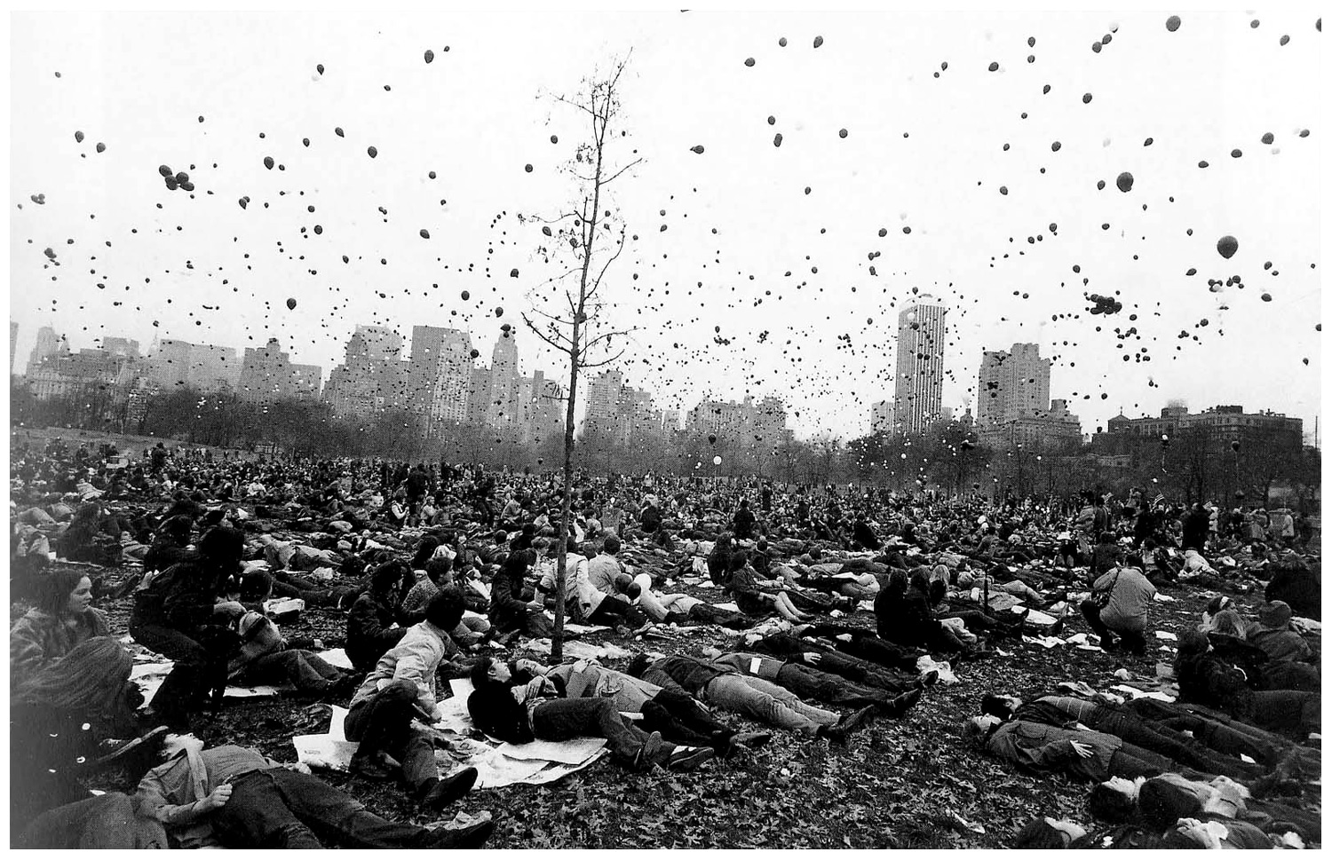 Garry Winogrand      Peace Demonstration, Central Park, New York  1970 gelatin silver print 11 x 14 inches (28 x 35.6 cm) estate stamped by executor of Winogrand estate