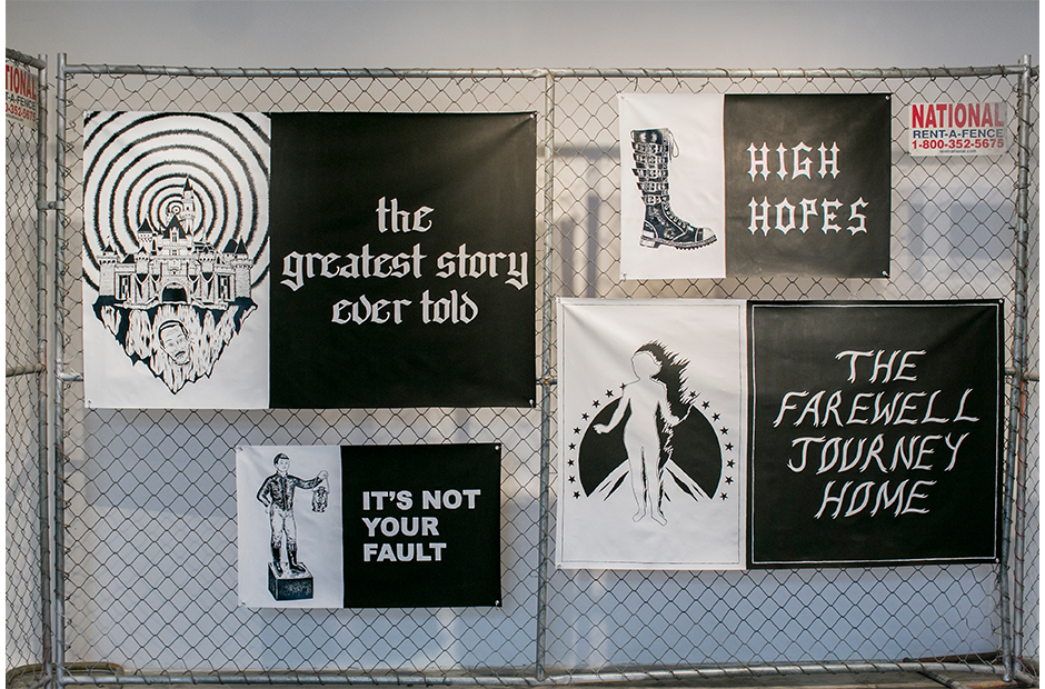 Brendan Donnelly . Excerpts of acrylic on canvas prints from the  How To Be A Magician in Your Spare Time , 2014. Courtesy of Paul Loya Gallery.