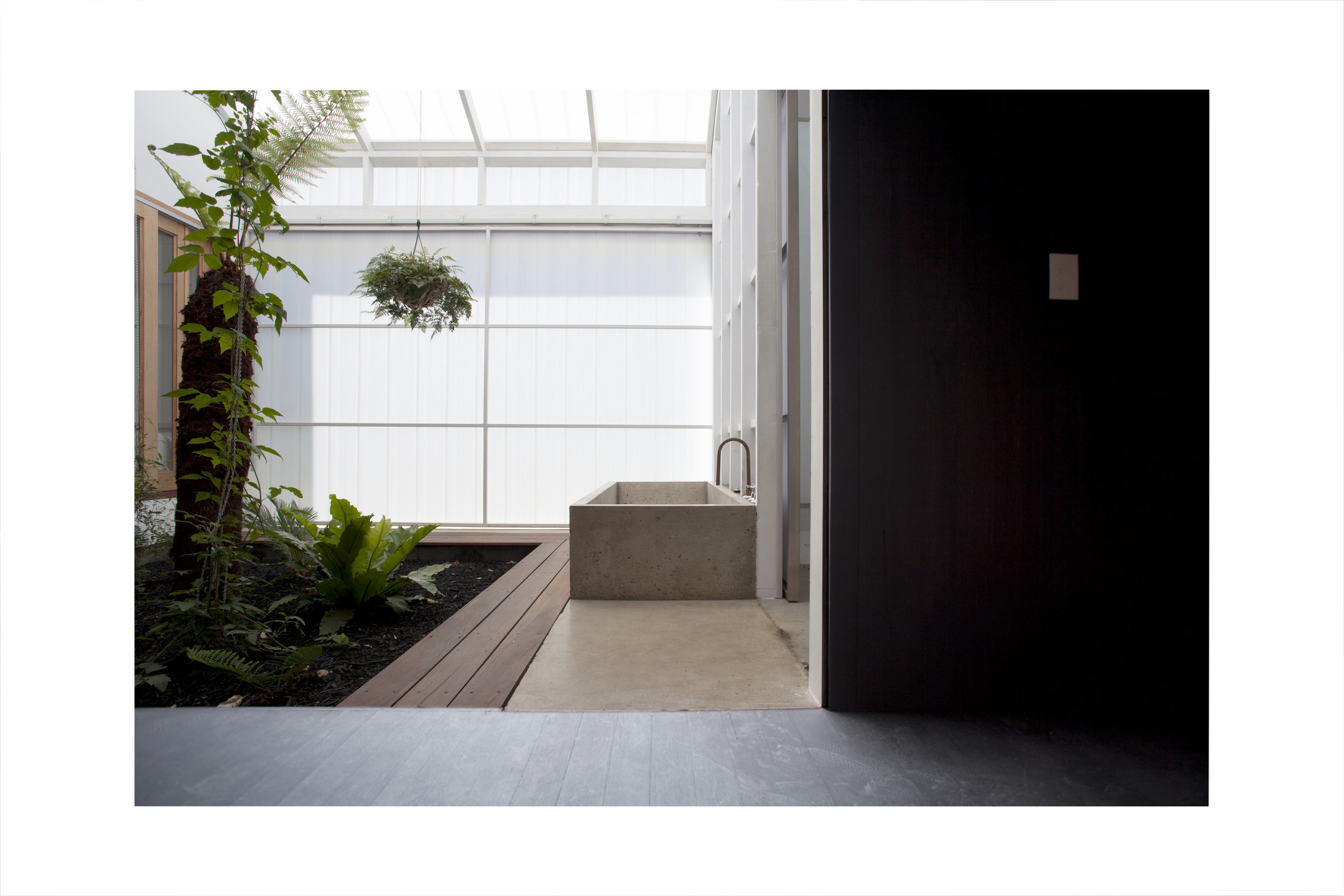 Hand build and designed Internal/External Concrete bath. Enough said.