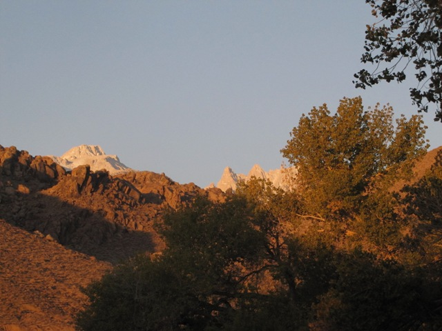 Mt. Langley & Mt. Corcoran from Lone Pine