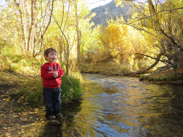 My nephew Todd Philip on the South Fork Bishop Creek