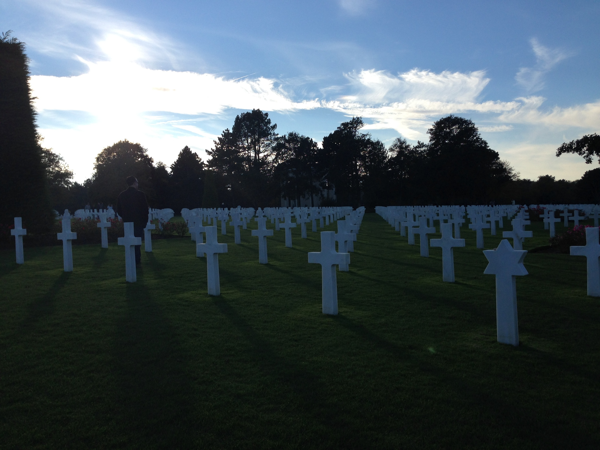 Normandy American Cemetery and Memorial, Colleville-sur-Mer, France. More than 9,000 Americans are buried here, some 50 percent of all American casualties during the D-Day campaign.
