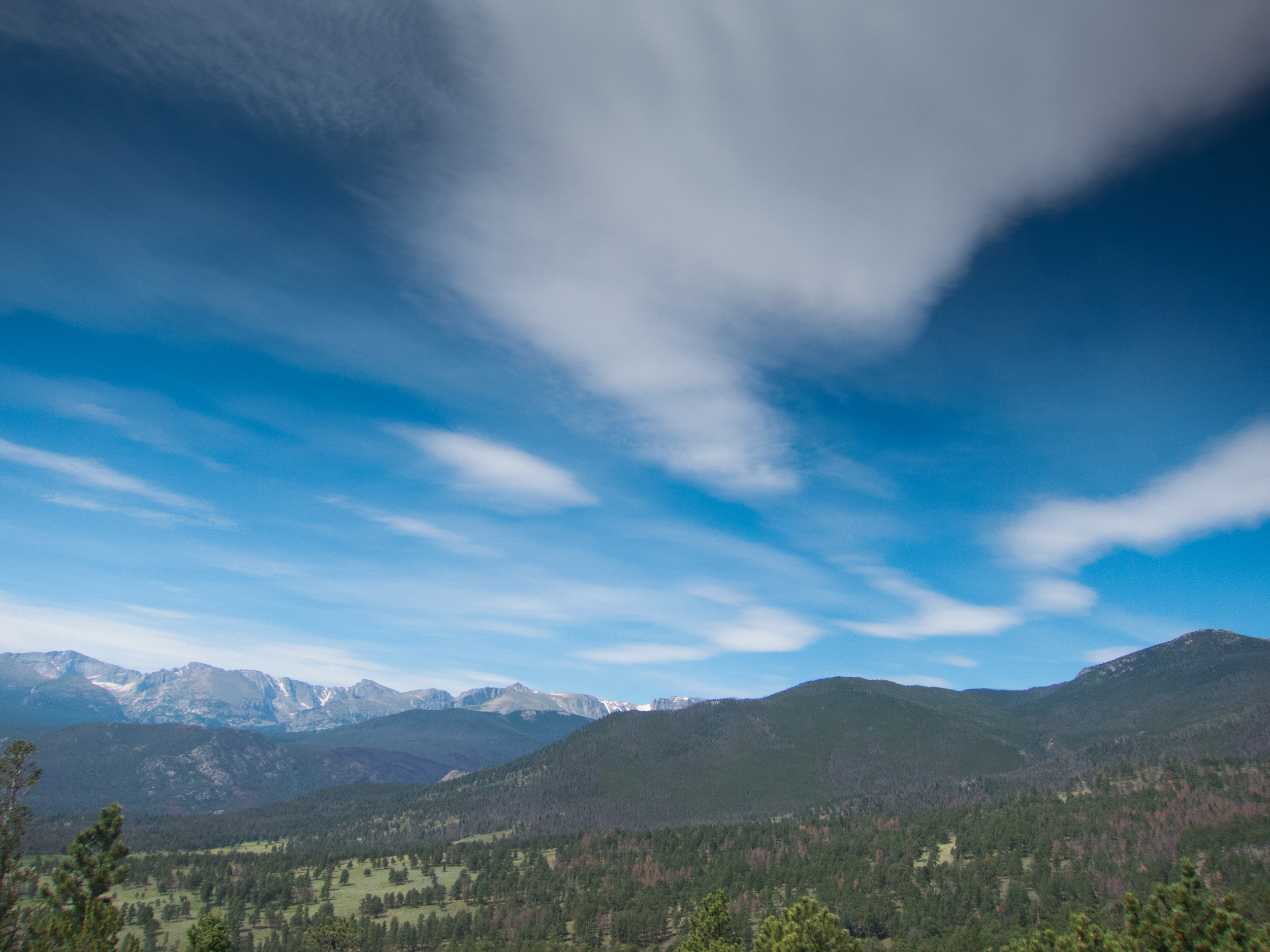 Vista of the area where the headwaters of the Colorado River begin in Rocky Mountain Nation Park, Colorado.